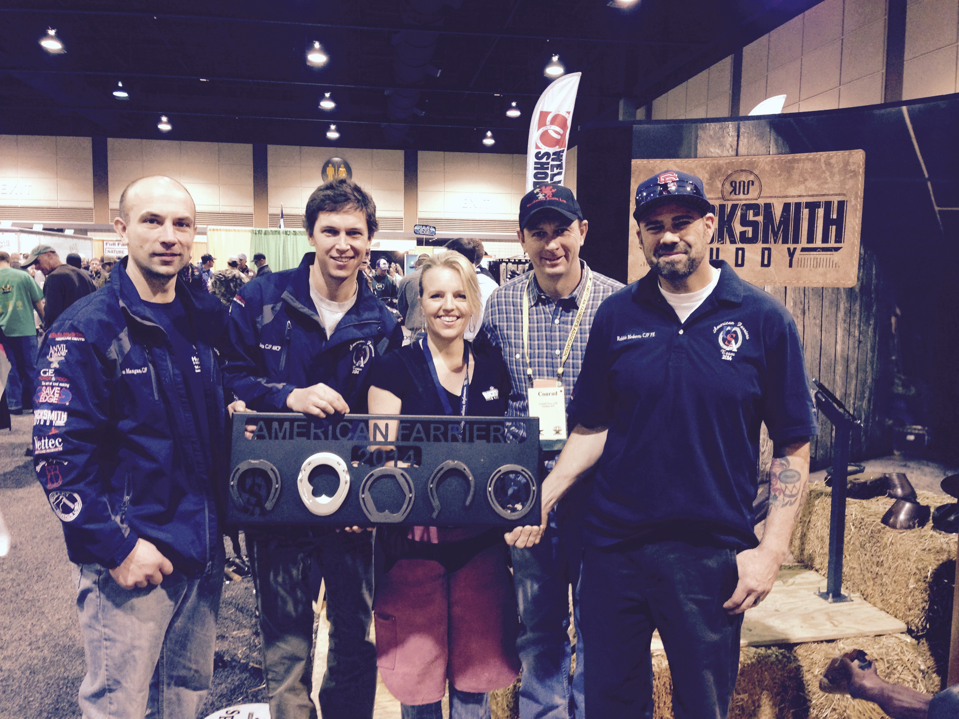2014 American Farrier's Team with Blacksmith Buddy's Erin Baayen.